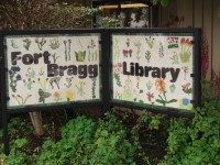 Fort Bragg Library Sign