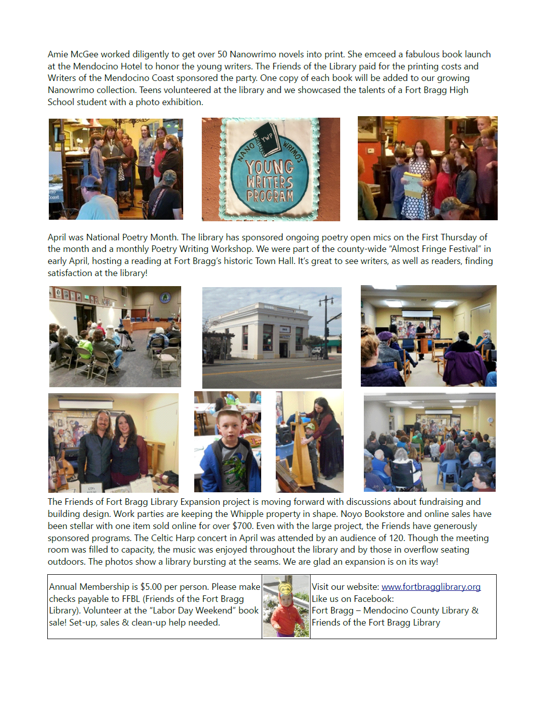 newsletter4-rev - Fort Bragg Library