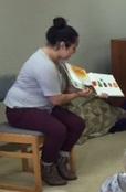 Tanya reading
