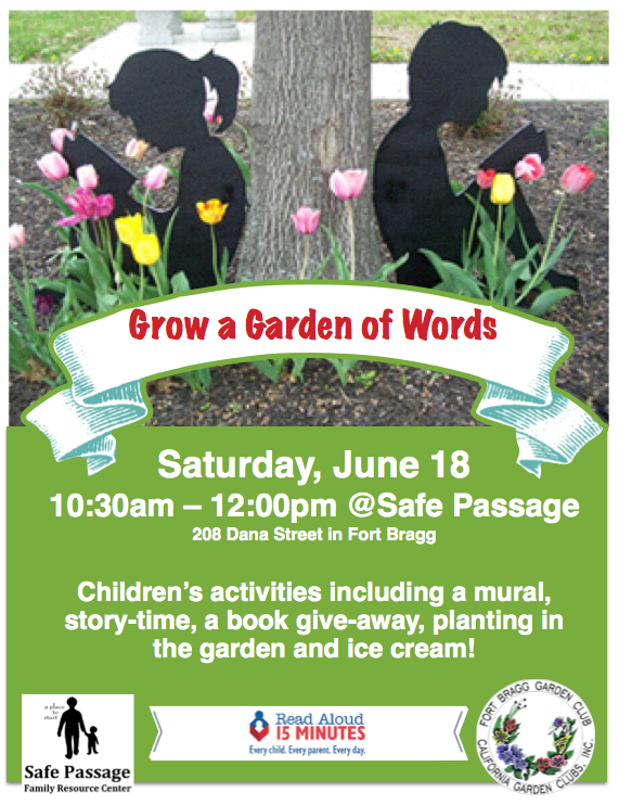 Grow A Garden Of Words Fort Bragg Library