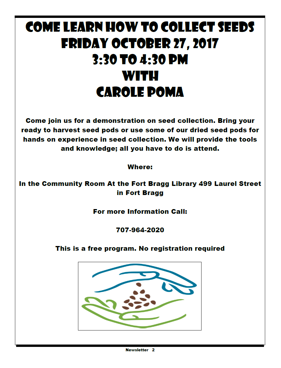 Seed Library Events - Fort Bragg Library
