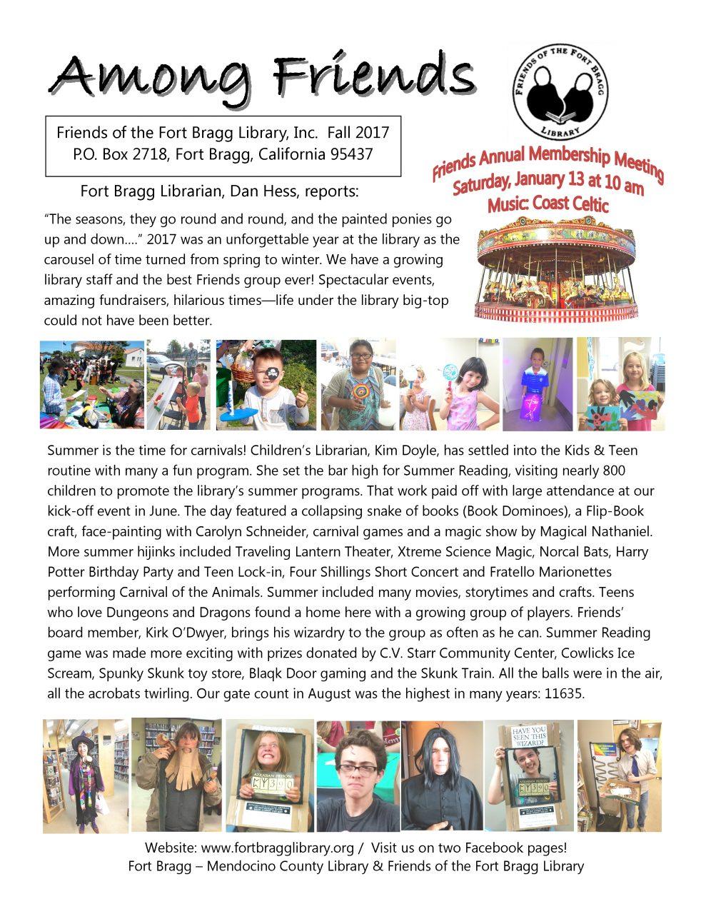 Among Friends Newsletter - Fall 2017