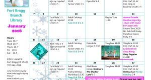 January Calendar Fort Bragg Library
