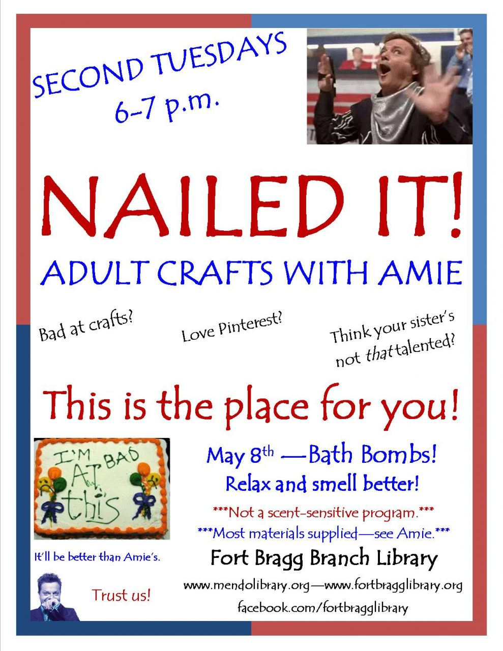 Nailed It! Adult Crafting with Amie ~ Bath Bombs for Mother's Day