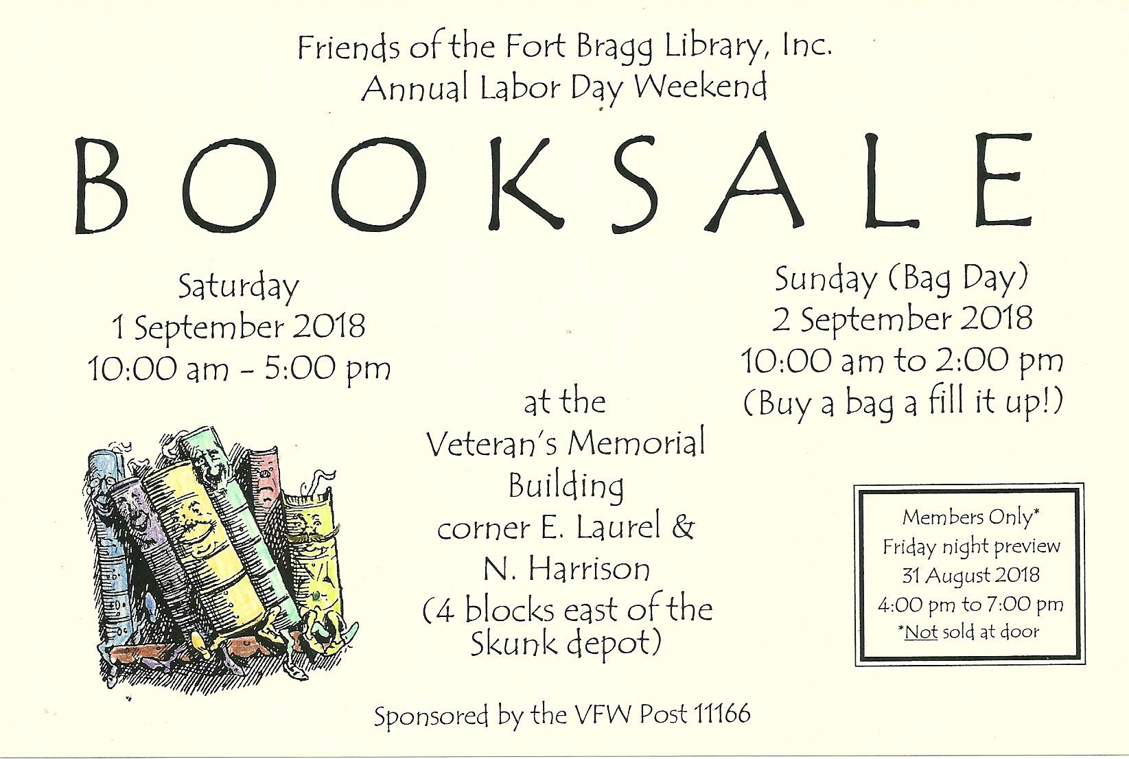 Labor Day Weekend Book Sale
