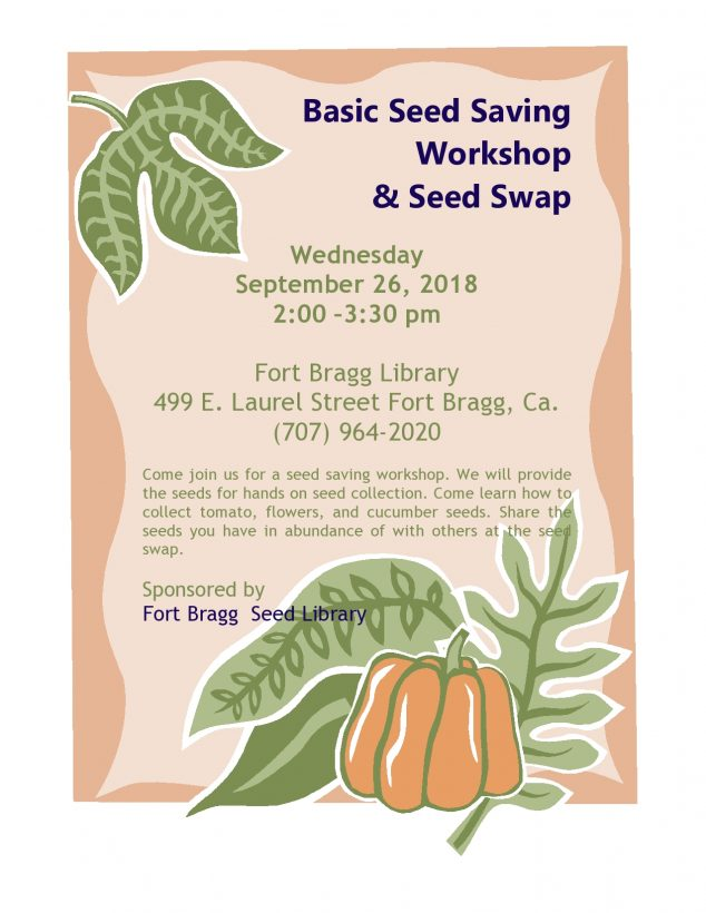 Basic Seed Saving Flier